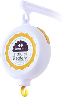SHILOH - Móvil musical para bebé (60 canciones, funciona con pilas), color blanco