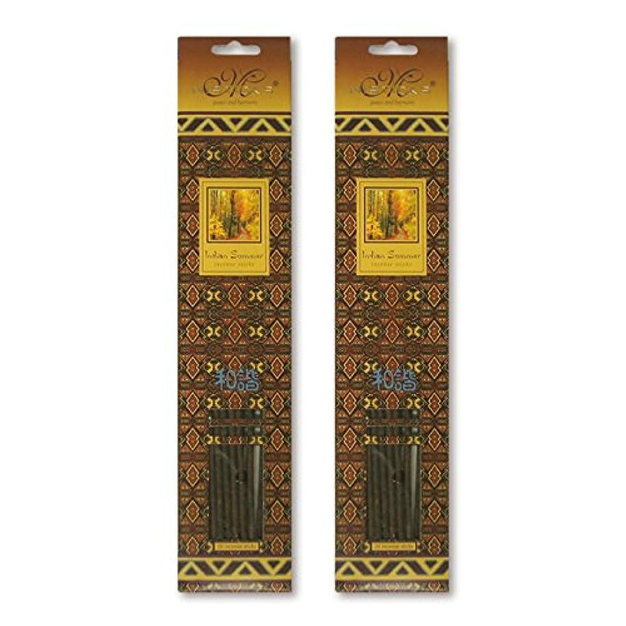 拡声器夜ディスコMISTICKS ミスティックス Indian Summer インディアンサマー お香 20本 X 2パック (40本)