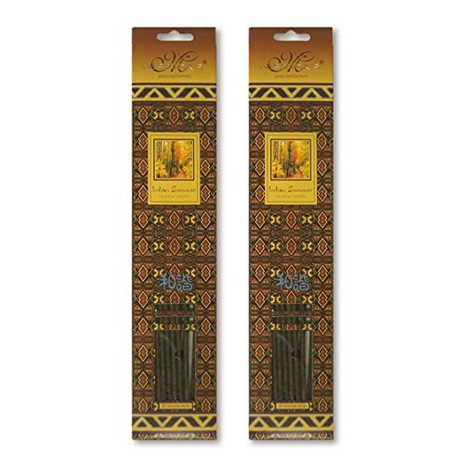 計算する気づかないダブルMISTICKS ミスティックス Indian Summer インディアンサマー お香 20本 X 2パック (40本)