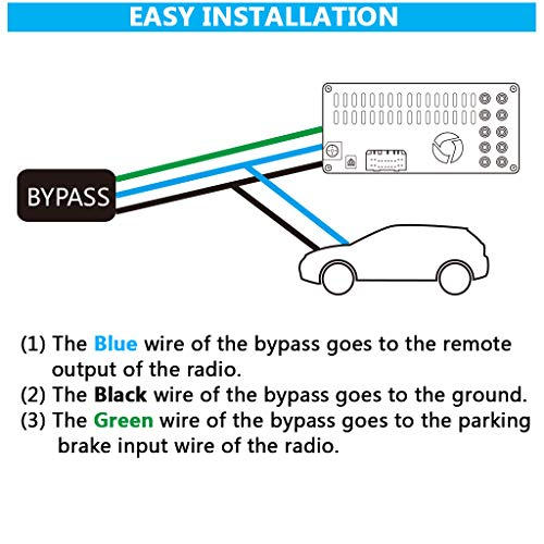 Parking Break Bypass Module Video in Motion Interface for All Pioneer AVH DVD Receiver