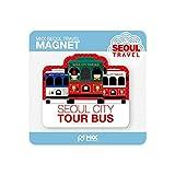 MKX Viaje Seoul City Tour Bus Corea nevera imán Souvenir Coreano Portanotas Multi