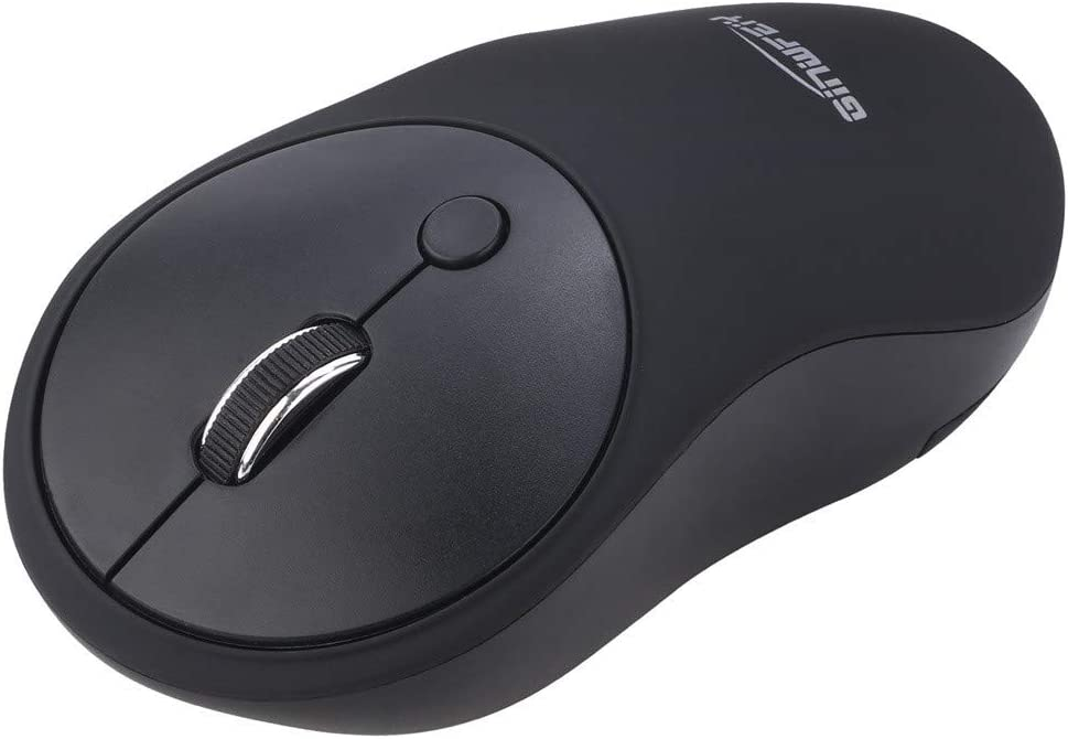 GINWFEIY W10 2.4Ghz USB Wireless Mute Mouse Ergonomic Design Optical Silent Mice