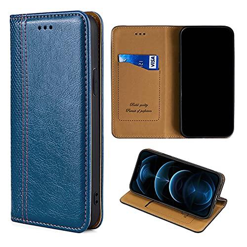 Oujietong GKGW Flip Funda para LG H422 Spirit Funda Carcasa Case Cover [Azul + Gris]