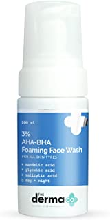 The Derma Co 3% AHA-BHA Foaming Face Wash, Anti Acne Foaming Cleanser for Face- 100 ml(dermaco)