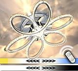 Dimmbar XL LED Decken Lampe Kristall Leuchte Farbwechsel Kalt Warm Neutral Weiß Luxus 60cm 64W FB Lewima Aura
