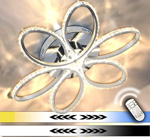 Dimmerabile XL LED plafoniera cristallo lampadario luce freddo bianco caldo neutro 60cm 64W incl. TC Lewima Aura