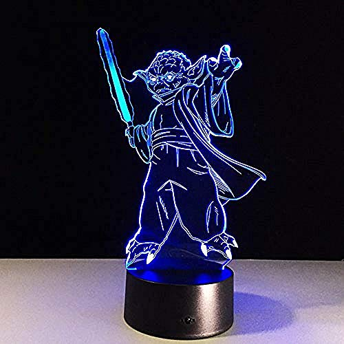Lampe 3D Todesstern Krieg Bb-8 R2D2 Meister Yoda Darth Vader USB Mehrfarbig Led Tisch Nachtlicht Schlafzimmer Haus Geschenke Tod Vader USB Wiederaufladbare Jungen Mädchen Geschenke Dekor Für Bar