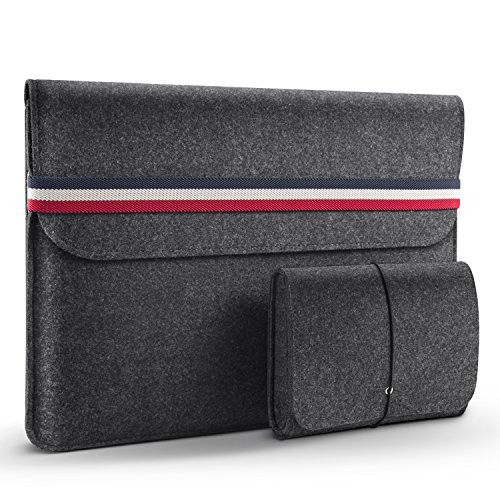 HOMIEE 15-15.4 Inch Laptop Sleeve MacBook Sleeve Carrying Case for 2019 MacBook Pro 16 Inch, 15 Inch MacBook Pro 2015-2019 and Dell XPS 15, Dark Grey