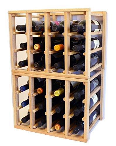 sfDisplaycomLLC 24 Bottle Modular Stackable Wine Rack Stack As Many Sets Together 3 Sets  72 Bottle Capacity