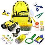 KAQINU Kids Explorer Kit, 24 PCS Outdoor Adventure Camping Kit & Bug Catcher Kit with Drawstring Bag,...
