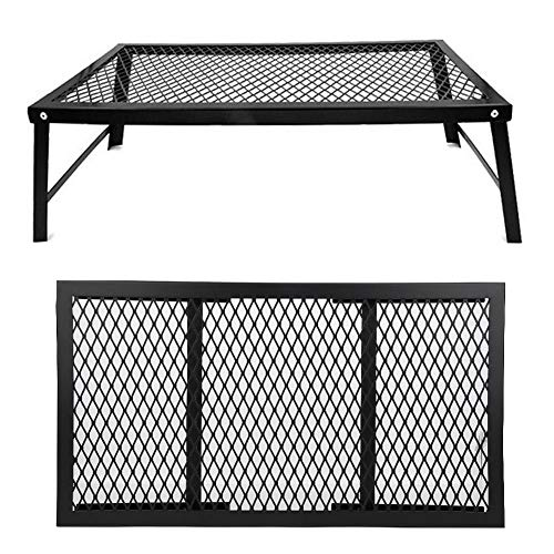 Alinory Grill Rack, Outdoor Iron Picnic Table, Storage Rack for Barbecue Camping