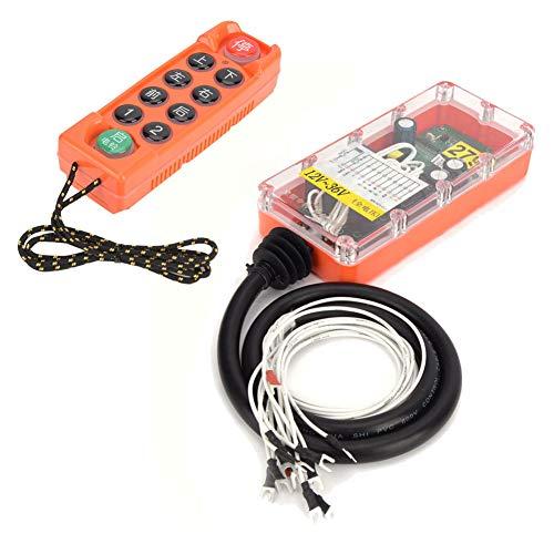 H23-C ++ Humos de soldadura resistentes 400 canales 2 pilas AA Control remoto industrial inalámbrico de voltaje completo 1 transmisor 1 receptor para control inalámbrico(12V-36V)