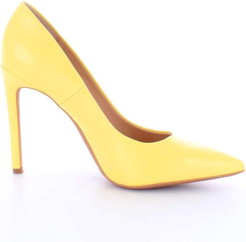 FRANCESCO MILANO Women's S091PYELLOW Yellow Leather Pumps