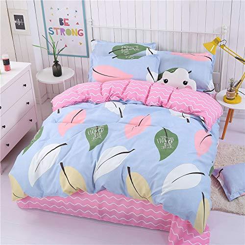 CYGJ CYGJHypoallergenic cotton comfortable three-piece or four-piece beddingBlue and pink1.5m three-piece set