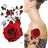 Supperb Temporary Tattoos - Red Roses (8 x 4...
