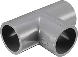 uxcell 20mm Slip Tee PVC Pipe Fitting T-Shaped Coupling Adapter Gray 5 Pcs