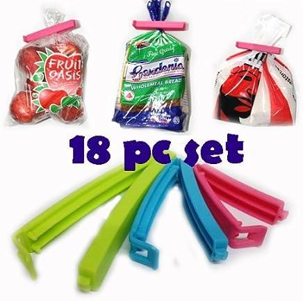 Generic Plastic Bag Sealing Clips, 18-Pieces, Multicolor