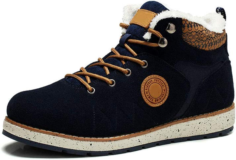Ailj Snow Boots, Men's Warm Boots, Winter Boots, Flat Boots, Boots, Boots, Boots, Non-Slip, Waterproof, (Black) (color   bluee, Size   44 EU 11 US 10 UK 27cm JP)