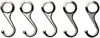 Ikea Nickel Plated Steel Hooks 002.138.55, 2.75-inch, Pack of 5, Silver