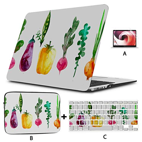 Hard Laptop Cases Corn Painted Vegetable Fruit 13 In Laptop Case Hard Shell Mac Air 11'/13' Pro 13'/15'/16' With Notebook Sleeve Bag For Macbook 2008-2020 Version