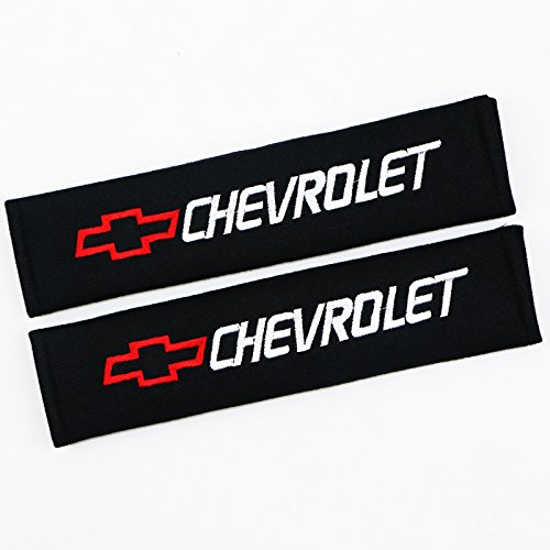 QZS Car Seat Belt Cover - 1 Pair/Set Car Seat Belt Shoulder Pads Strap Cover Cushions for Chevrolet Cars