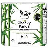 The Cheeky Panda, rotoli di carta igienica al 100% di bambù ipoallergenico ultra sostenibili, confezione da 9 pezzi