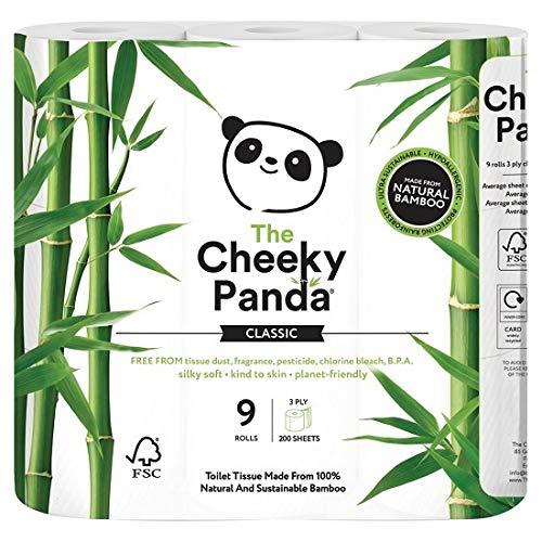 The Cheeky Panda toiletpapier, 100% bamboe, zacht, huidvriendelijk, super absorberend, geen scherpe chemicaliën