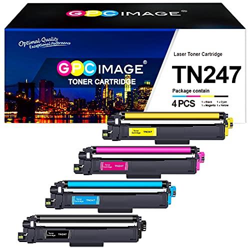 GPC Image Kompatible Tonerkartusche als Ersatz für Brother TN-247 TN-243 für MFC-L3730CDN L3770CDW L3750CDW, DCP-L3550CDW L3510CDW, HL-L3210CW L3270CDW L3230CDW(Schwarz Cyan Gelb Magenta, 4er-Pack)
