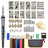 LCD Wood Burning Kit Pyrography Pen Thermostatic Digital-Controlled Pen Set Wood Craft Tools