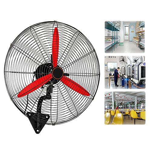 YSJX Ventilador Industrial de Pared oscilante,3 velocidades,ángulo Ajustable,Ventilador de refrigeración de Metal para Invernadero,supermercado,fábrica,Garaje,casa de Verano,Negro (Size : 55cm)