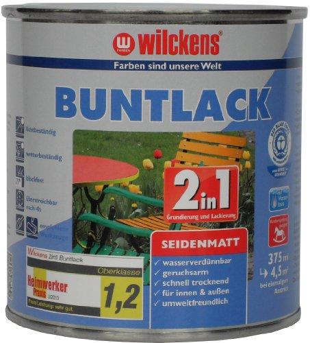 Wilckens 2in1 Buntlack seidenmatt, RAL 9010 reinweiß, 375 ml 12491000030
