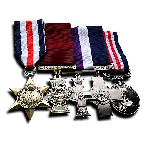 5x Medaille Gruppe das Victoria Kreuz, Militär Medaille, Militär Kreuz, Frankreich und Deutschland Star & George Kreuz Replikatsatzes. speziell für Sammler, die für die Medal of Honor, Auszeichnungen Medaillen, Armee Medaillen, Medal of Valor suchen