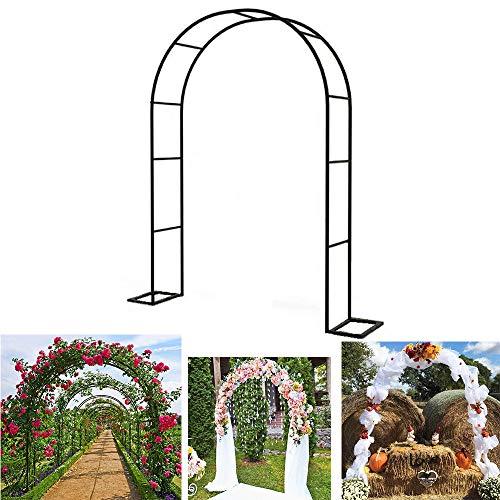 ZH-1 Arco da Giardino Fiori Arco Supporto per Piante Rampicanti, Decoro Esterni Pergolato, Tubolare in Acciaio zincato di 19 mm di Diametro, Resistente alle intemperie e alla ruggine