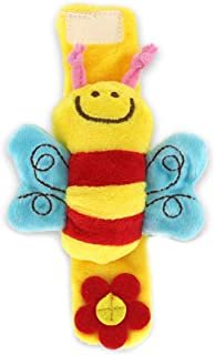 Anniston Kids Toys, Cartoon Plush Bee Animal Wrist Band Rattle Hand Foot Bell Educational Baby Toy Puzzles & Magic Cubes f...