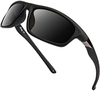 Sponsored Ad - A LONG Polarized Sports Sunglasses For Men Driving Fishing Running Cycling Glasses 100% UV Protection