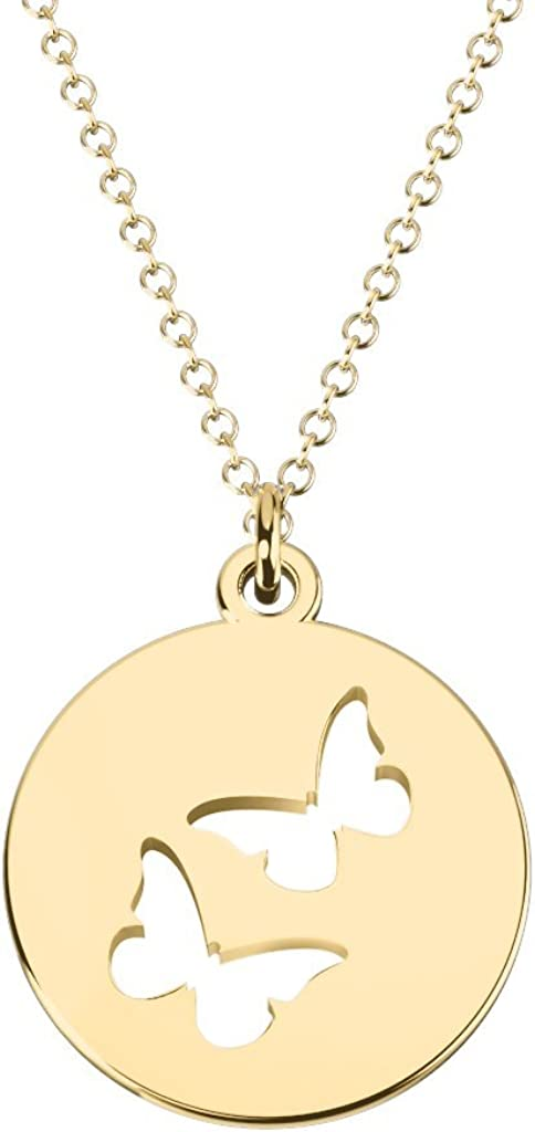 Overseas parallel import regular item 10K Gold Double Butterfly Cutout by Disc Max 78% OFF Necklace JEWLR
