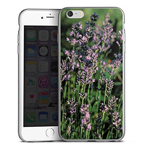 DeinDesign Cover kompatibel mit Apple iPhone 6s Plus Silikon Hülle Silber Case Schutzhülle Lavendel Flowers Blumen