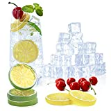 OPELETNNT 80 Pack Fake Ice Cubes Lemon Slice Cherries Set - Reusable Artificial Clear Acrylic Ice Rocks - Novelty Photography Prop Vase Fillers - for Home Decors Wedding Centerpiece