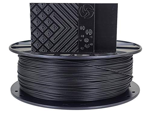 3D Fuel Pro PLA (PLA+) 3D Printing Filament, Made in USA with High Impact Strength & Dimensional Accuracy +/- 0.02 mm, 1 kg (2.2 lbs) 1.75mm Spool in Midnight Black