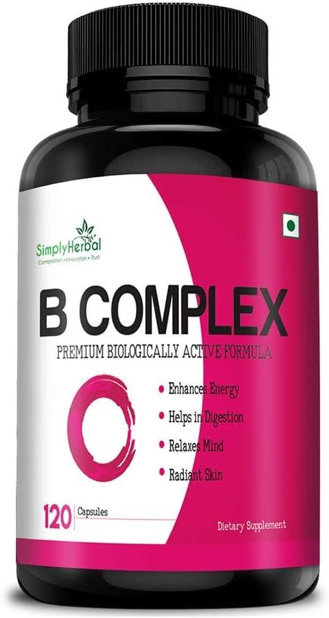 The Choice Seattle Mall Simply Herbal Vitamin B Vitamins Complex B2 B12 Max 57% OFF B1