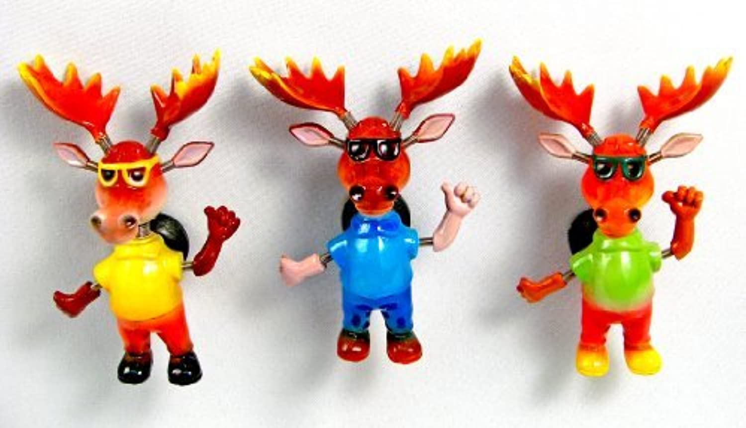 Puzzled Cool Moose Refrigerator Bobble Magnet (Set of 3) by Puzzled