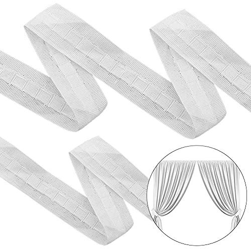 weiß 100/% Polyester Band 10m Rolle Weiß Gardinenband Universal-Gardinenband