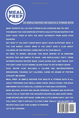 fitness nutrition Meal Prep Recipe Book: 50 Simple Recipes For Health & Fitness Nuts (Strength