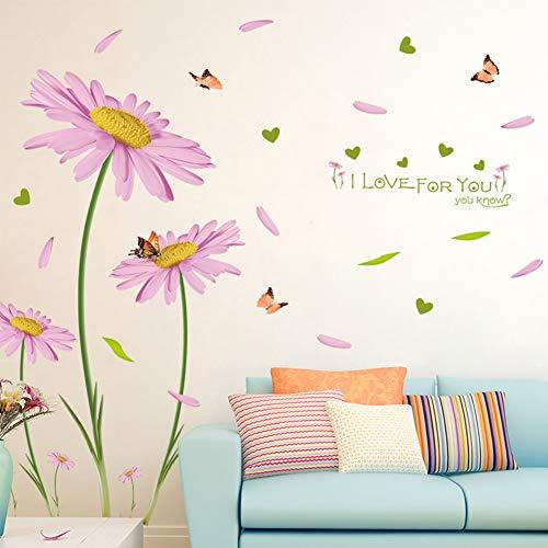 Adesivi murali Gerbera adesivi murali fiori rosa decorazione parete camera soggiorno corridoio
