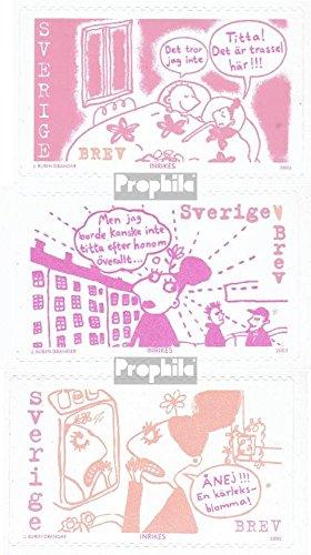 Sverige Mi.-nummer: 2268-2270 (komplett. utgåva) 2002 Joanna Rubin Dranger (frimärken för samlare) serier