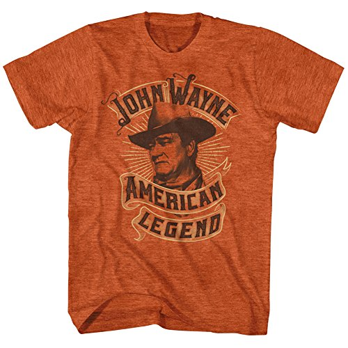 T-shirt John Wayne- American Legend Banner XXL - Orange