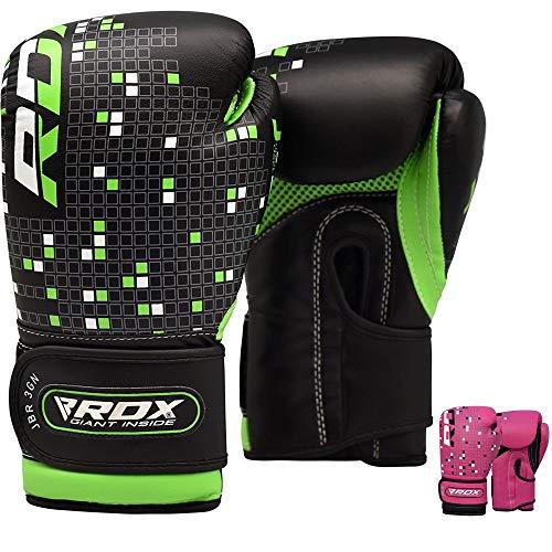 RDX Kinder Kunstleder Training Boxhandschuhe Junior Sparring Kickbox Handschuhe Muay thai Sandsackhandschuhe, 6 oz