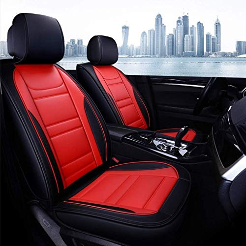 covers Automotive Protection Car Seat, Front And Rear 5 Seats Full Set of Universal Leather Four Seasons Seat Cover (Color : Red)