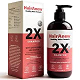 HairAnew 2X Healthy Hair Formula Shampoo with biotin, capauxein & argan oil – for hair fullness and thickness – sulfate-free, cruelty-free, paraben-free – for women & men, all hair types – 11.5 fl oz