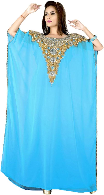 Kolkozy Fashion Women's Muslim Party Wear Long Kaftan Abaya Dress